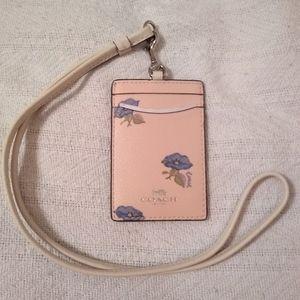 🆕 Coach Bell Flower Print Lanyard ID